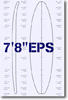 7 feet 8 inches EPS surfboard blank