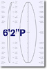 6 feet 2 inches P surfboard blank