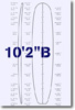 10 feet 2 inches B surfboard blank