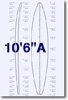 10 feet 6 inches A surfboard blank
