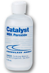 Can of catalyst MEK peroxide