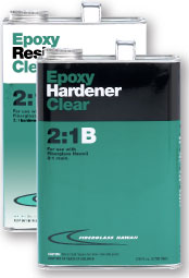 Can of Epoxy Resin Clear 2:1A and Can of Epoxy Hardener Clear 2:1B