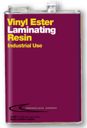 Can of Vinyl Ester Laminating Resin